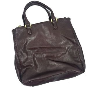 The Limited Oxblood Double Zip Tote